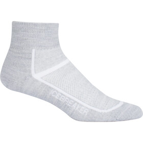 Icebreaker Multisport Ultra Light Mini Socks Dam blizzard hthr/white